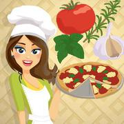 Play Game : Pizza Margherita - Cooking with Emma