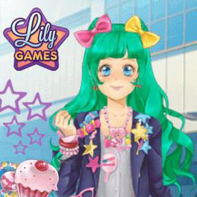 https://play.famobi.com/manga-lily girls,make-up,dress-up online game