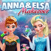 Jetzt Anna & Elsa Makeover online spielen!