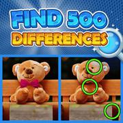 Denken Spiel Find 500 Differences
