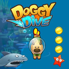 https://play.famobi.com/doggy-dive skill online game