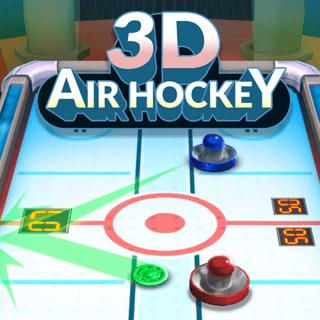 Play game 3D Air Hockey  online