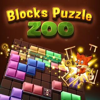 積木拼圖動物園-积木拼图动物园-Blocks Puzzle Zoo-將方塊形狀放到現場以將鑰匙與籠子連接起來,以營救圈養的動物!