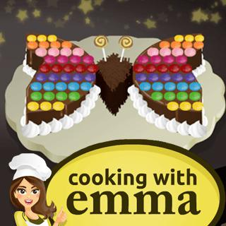 Butterfly Chocolate Cake - Cooking with Emma