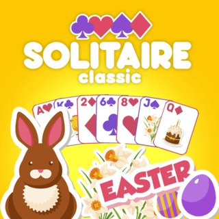 Solitaire Classic Easter Card